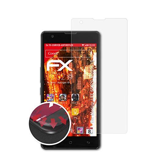 atFolix Schutzfolie passend für Medion Life E5020 MD99616 Folie, entspiegelnde & Flexible FX Bildschirmschutzfolie (3X)