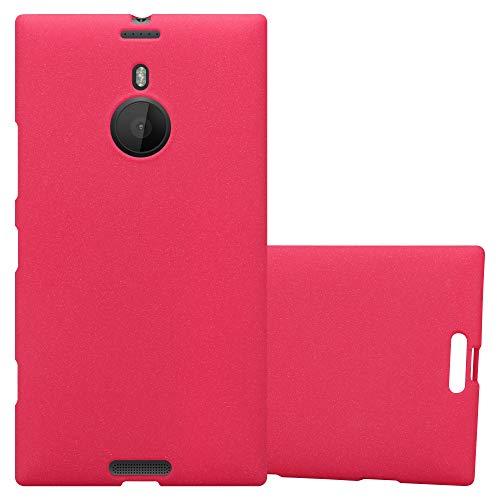 Cadorabo Hülle für Nokia Lumia 1520 - Hülle in Frost ROT - Handyhülle aus TPU Silikon im matten Frosted Design - Silikonhülle Schutzhülle Ultra Slim Soft Back Cover Case Bumper