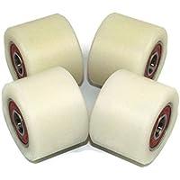 4 rodillos de poliamida de nailon de 40 mm de diámetro, 30 mm de ancho, rodamientos de 10 mm con precisión mecanizado en la UE (40-30-8)