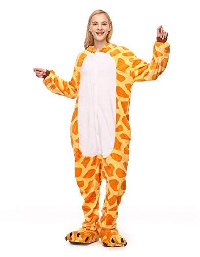 (HLDUYIN Onesie Onesie Tiere Kostüm One Piece Cosplay Erwachsene Pyjamas Jumpsuit,S)