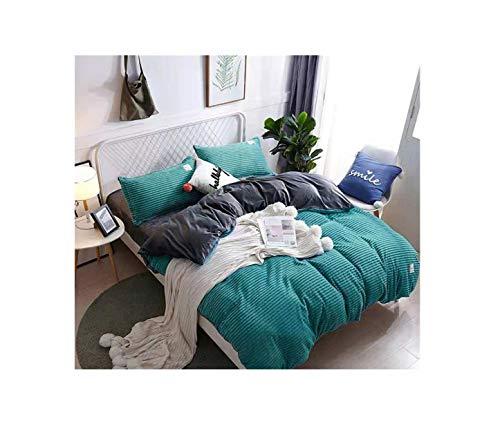 The Unbelievable Dream Bettbezug Flanell warme magische Samt Bettwäsche Set Baumwolle einfarbig waschbar einfache Kinder Kinder Erwachsene dunkelgrün, Standard