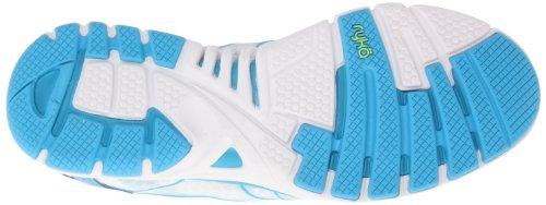 Ryka Women' s Dynamic sintetico scarpe da corsa White/Met/Ocean Blue/Electric Lime