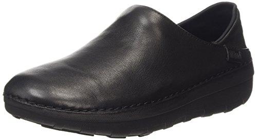 Fitflop Superloafer Tm Leather Scarpe Low-Top, colore nero (all black), taglia 41 EU (7 UK)