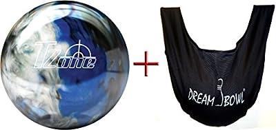 'Bowlingball–Principiantes y räum Ball T de zona Indigo Swirl 6Lbs hasta 15Lbs + See Saw Saco de balón para limpiar