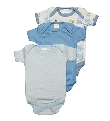 NammaBaby MultiColor Romper BodySuit Onesies for New Born Baby Pack Of 3 (3-6 Months) Blue