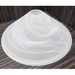Ersatzglas/Lampenglas/Leuchtenglas/Ersatzglas/Lampe/Leuchten/E27 /Alabasterfarbig/Ersatzschirm/Lampenschirm Höhe 10,5 cm…