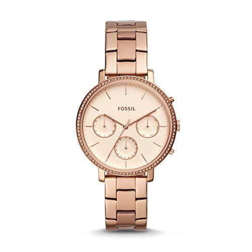 Fossil ES4436 Rose Gold Stainless Steel Ladies Sylvia Watch
