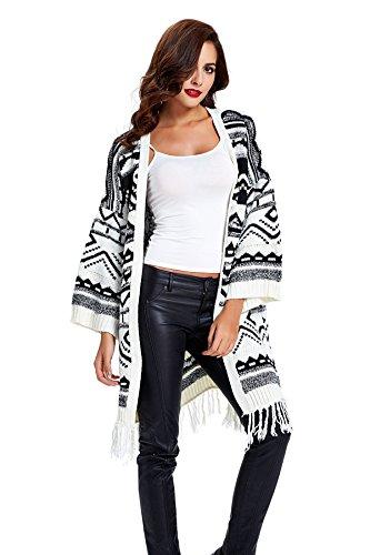 geometric-print-tassels-knitwear-oversized-open-front-cardigan-6340-black