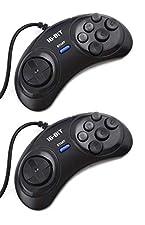 Link-e : 2 X manette 6 boutons pour console de jeu SEGA Megadrive, Genesis, Master System
