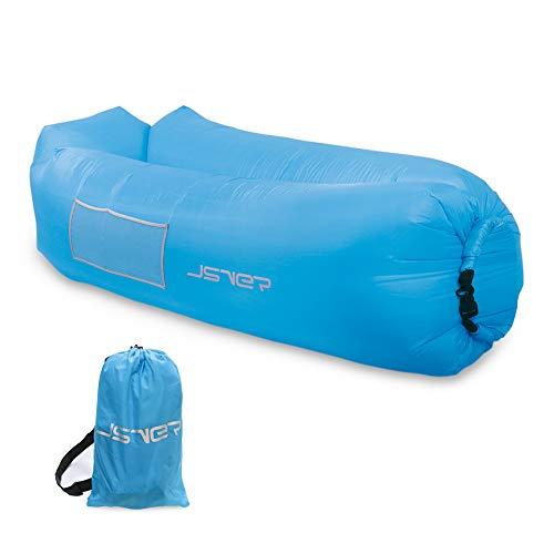 JSVER Luftsofa Wasserdichtes aufblasbares Sofa Luft Couch Outdoor Sofa Aufblasbare Liege air Lounger Sitzsack Tragbare für Camping Reisen, Camping,Strand Blue