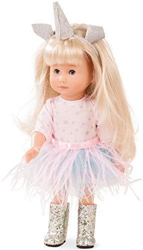 Götz 1813032 Just Like me - Mia als Einhorn Puppe - 27 cm große Stehpuppe mit extra Langen blonden...