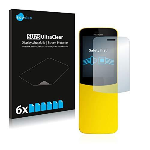 Savvies Schutzfolie kompatibel mit Nokia 8110 (6 Stück) - ultraklare Bildschirmschutz-Folie