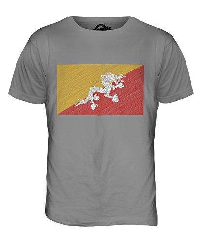 CandyMix Bhutan Kritzelte Flagge Herren T Shirt Hellgrau