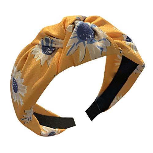 da3e5b08a280e8 jerferr Rockabilly Haarband Sonnenblumen-Stirnband Kreatives breites  Stirnband für Kopfbedeckungen