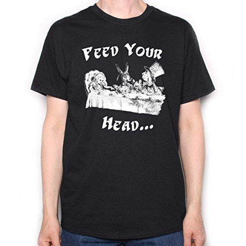 Inspired by Jefferson Airplane T Shirt - Feed Your Head Alice In Wonderland Tea Party (Jefferson Airplane T-shirt)