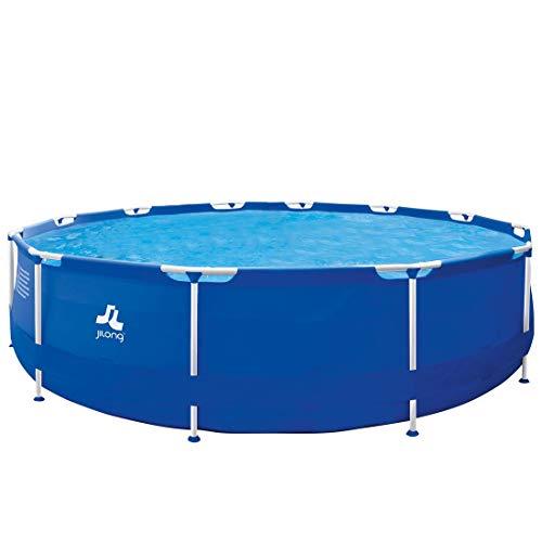 Jilong JIL2909-6920388630658 Stahlrahmenbecken, 9495 liters, Blau 658, 420 x 420 x 84 cm
