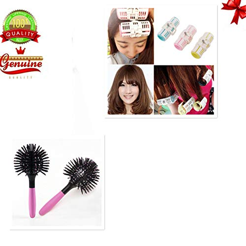Miji Massage Hot Curling Style Brush Hair Style Massage Comb 3D Round Hair Comb