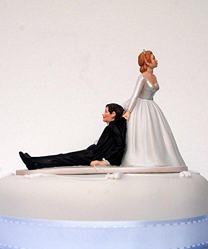 DreamWedding-UK - Statuine per Torta Nuziale con Coppia di sposi, spiritose, Divertenti, in Varie Posizioni, per Feste di Matrimonio, in Resina Sintetica, Numero 2, Dimensioni 5x 12x 12cm
