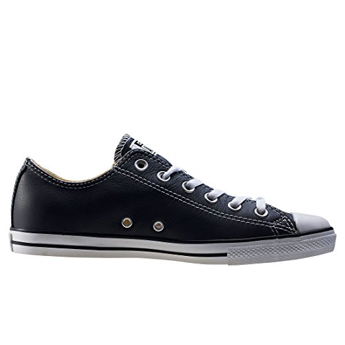 Converse Dainty Leath Ox 289050-52-17 , Sneaker donna Black White Leather