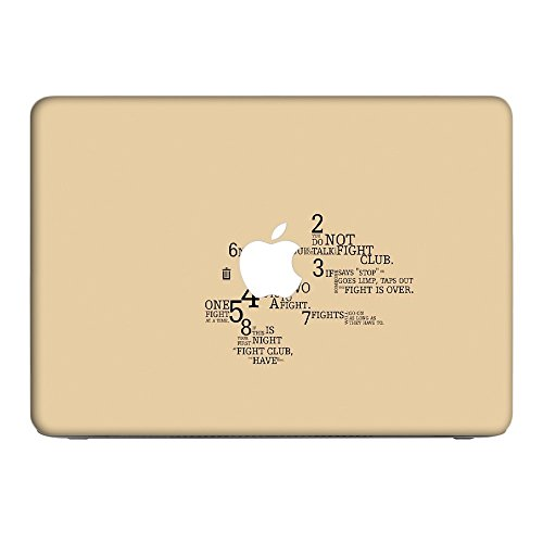 Zeug 10011, Fight Club, Skin-Aufkleber Folie Sticker Laptop Vinyl Designfolie Decal mit Ledernachbildung Laminat & Farbig Design für Apple MacBook Air 11