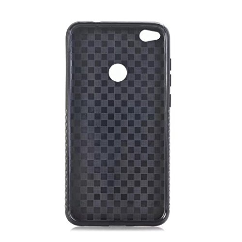 EKINHUI Case Cover Dual Layer PC + TPU Eletroplating PC Retro Crazy Pferd Leder Skin Shell Abdeckung Fall für Huawei P8 Lite 2017 ( Color : Black ) Brown