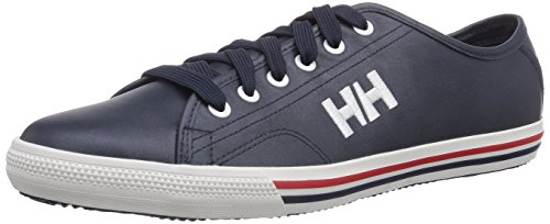 Helly Hansen Fjord Leather, Sneakers Basses Homme Multicolore - Azul marino / Blanco / Rojo