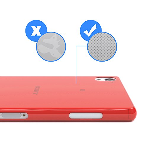 """Sony Xperia Z3 Hülle - EAZY CASE Slimcover """"Clear"""" Handyhülle - Schutzhülle als Smartphone Case in Schwarz / Anthrazit Clear Rot"""