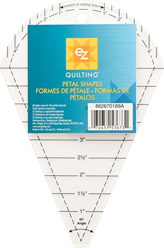 EZ Quilting Schablone aus Acryl in Blütenform -