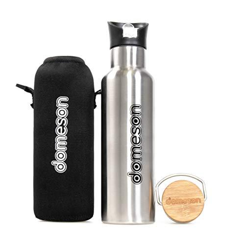 Domeson borraccia termica sportiva in Acciaio Inox da 600 ml senza BPA