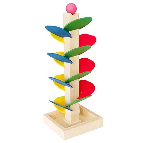FEIDAjdzf Lernspielzeug Holzbaum Marmor Ball Laufbahn Spiel Baby Kinder Geschenk Multi