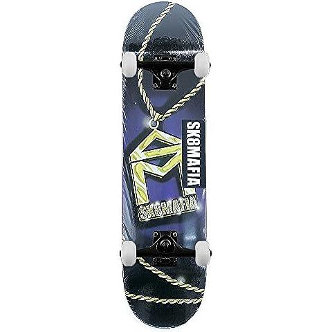 Sk8mafia Skateboard House Logo catena Skateboard completo nero 8.0