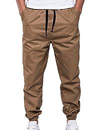YCHENG Pantalones para Hombres marrón negro gris azul