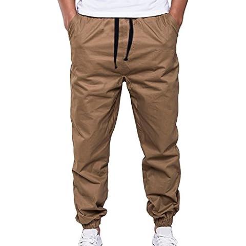LIANIHK pantalones de los hombres colapso de moda casual Jogging
