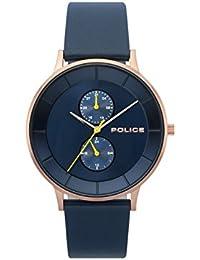 Police Reloj Análogo clásico para Hombre de Cuarzo con Correa en Cuero PL.15402JSR/03