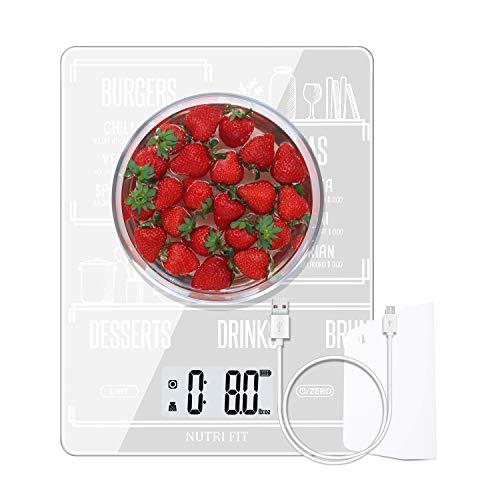 NUTRI FIT Báscula Cocina Digital Multifuncional Recargable