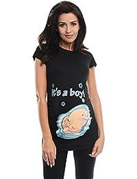 Purpless Maternity Printed Slogan Cotton Pregnancy Top T-shirt Tee It's a Boy Print 2002