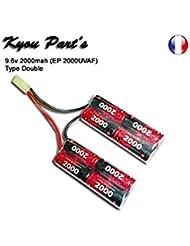 Kyou - Pack batterie 9.6v 2000mah (EP 2000UVAF) - Type Double