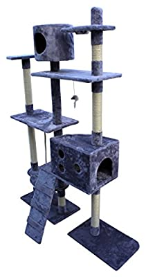 Cat Tree Activity Centre Scratcher Scratching Post Toys Bed with Cat Nip HOME HUT® by Home and Garden Products Ltd