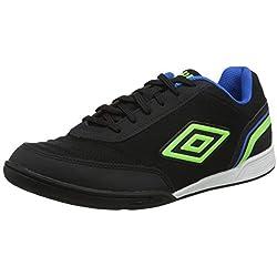 Umbro Futsal Street V, Zapatillas de fútbol Sala para Hombre, Negro (Black/Green Gecko/Electric Blue FCH), 40 EU