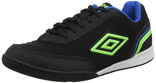 Umbro Futsal Street V, Scarpe da Calcetto Indoor Uomo, Nero (Black/Green Gecko/Electric Blue FCH), 42 EU