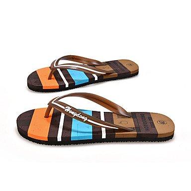 Slippers & amp da uomo;Comfort PU Estate casuale piani del tallone Sandali Giallo Marrone Blu sandali US8 / EU40 / UK7 / CN41