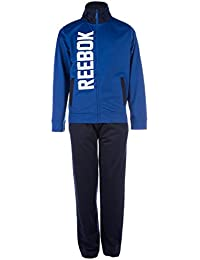 Reebok Junior Boys Tricot Tracksuit in Blue-Jacket:-Pockets to Sides-Zip
