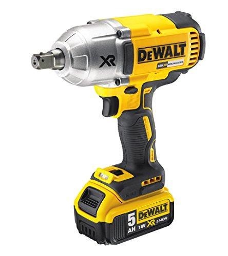 DEWALT DCF899P2 Boulonneuse à chocs Brushless 3 vitesses avec 2 batteries 18 V 5 Ah 950 Nm