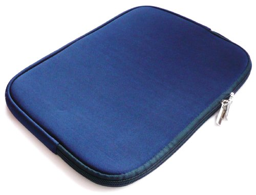 Emartbuy® Blau Water Resistant Neopren Soft Zip Case Cover geeignet für Dell Latitude 3550 15.6 Zoll Laptop (15-16 Zoll Laptop/Notebook / Ultrabook)