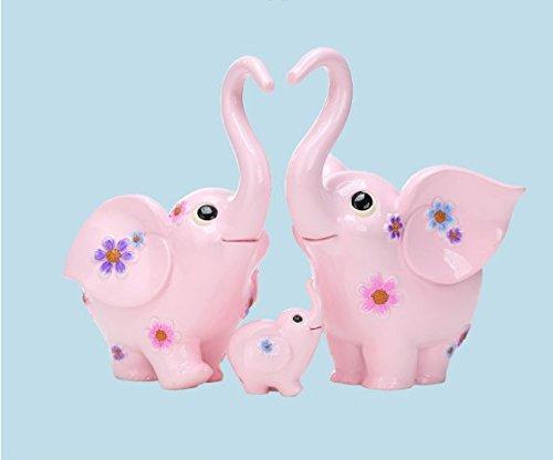STOWNN Creativo Regalo de Bodas para una Familia de Tres Elefantes Creative...