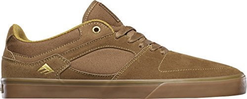 Emerica the Hsu Low Vulc, Chaussures de Skateboard Homme BROWN/GUM