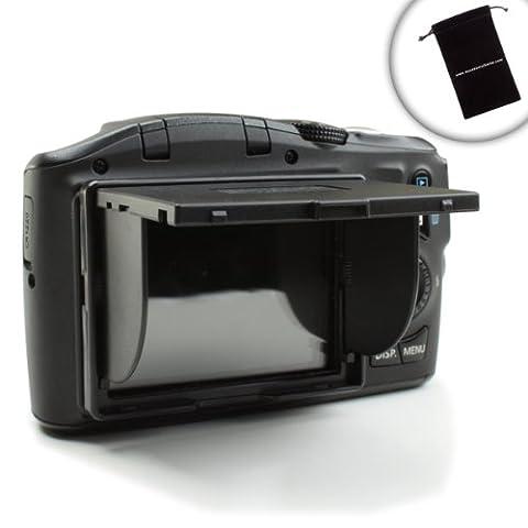 ENHANCE DSLR Camera Pop-Up Sun Shade & 3 inch LCD Camera Hood Screen Protector - Fits Canon EOS Rebel 1200D , 700D , 7D , 100D , 6D , 600D , 60D , 450D & More - Includes Bonus Accessory Bag
