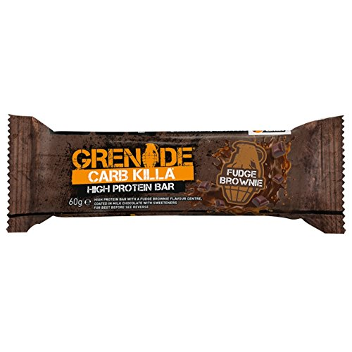 Grenade Carb Killa High Protein and Low Carb Bar, 12 x 60 g – Fudge Brownie