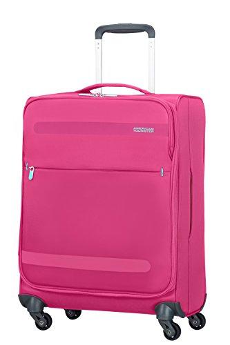American Tourister 80371/1149 Herolite Super Light Spinner Bagaglio A Mano, 55 cm, 42 litri, Bubble Gum Pink