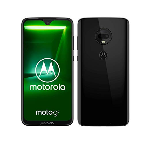 moto g7 Dual-SIM Smartphone (6,2 Zoll Display, 12-MP-Dual-Kamera, 64GB/4GB, Android 9.0) Ceramic Black [Exklusiv bei Amazon]